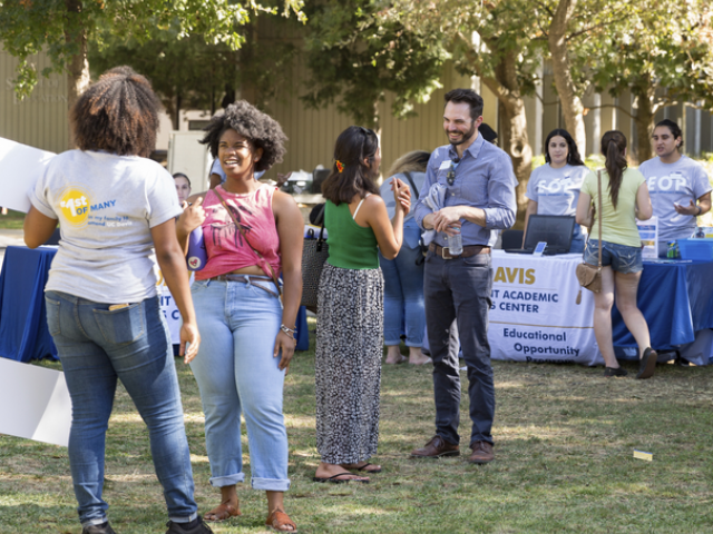 student involvement fair on quad